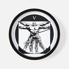 Vitruvianman! Wall Clock