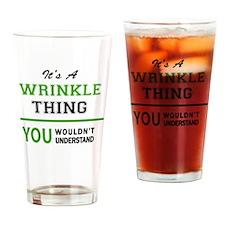 Cute Wrinkles Drinking Glass