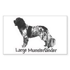 Munsterlander Rectangle Decal