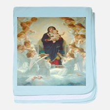 Mother Mary baby blanket