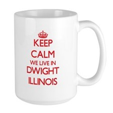 Keep calm we live in Dwight Illinois Mugs