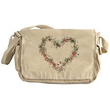 Elegant Floral Heart Messenger Bag