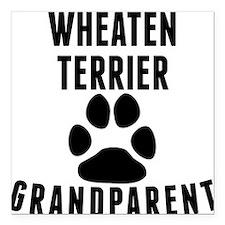 "Wheaten Terrier Grandparent Square Car Magnet 3"" x"