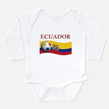 Cute Ecuador soccer Long Sleeve Infant Bodysuit
