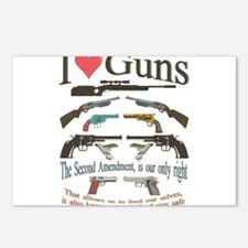 i love guns 2 main2.png Postcards (Package of 8)
