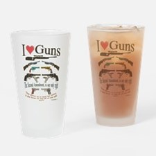 i love guns 2 main2.png Drinking Glass