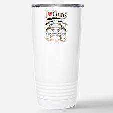 i love guns 2 main2.png Travel Mug