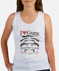 i love guns 2 main2.png Tank Top