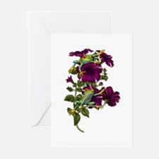 PURPLE PETUNIA FROGS Greeting Cards (Pk of 10)