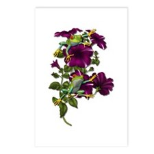 PURPLE PETUNIA FROGS Postcards (Package of 8)