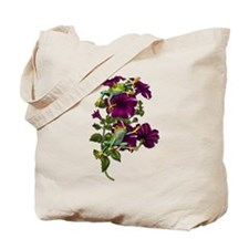 PURPLE PETUNIA FROGS Tote Bag