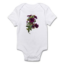 PURPLE PETUNIA FROGS Infant Bodysuit