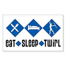Eat Sleep Twirl (Blue) Rectangle Decal