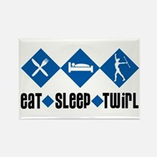 Eat Sleep Twirl (Blue) Rectangle Magnet
