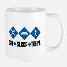 Eat Sleep Twirl (Blue) Mug
