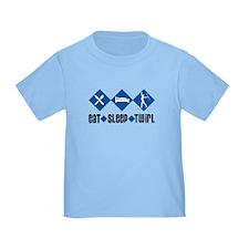 Eat Sleep Twirl (Blue) T