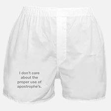Proper Use Of Apostrophe's Boxer Shorts