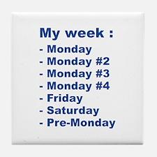 My Week Tile Coaster