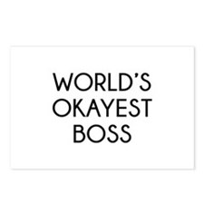 World's Okayest Boss Postcards (Package of 8)