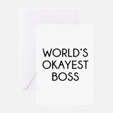 World's Okayest Boss Greeting Cards (Pk of 10)