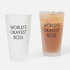 World's Okayest Boss Drinking Glass