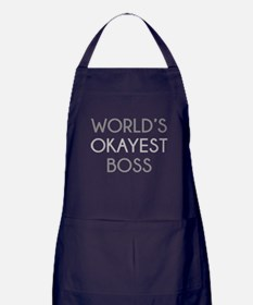 World's Okayest Boss Apron (dark)