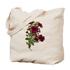RED PETUNIA FROGS Tote Bag
