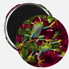 RED PETUNIA FROGS Magnet