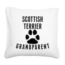 Scottish Terrier Grandparent Square Canvas Pillow