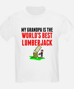 My Grandpa Is The Worlds Best Lumberjack T-Shirt