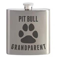 Pit Bull Grandparent Flask