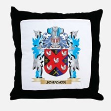 Johnson Coat of Arms - Family Crest Throw Pillow