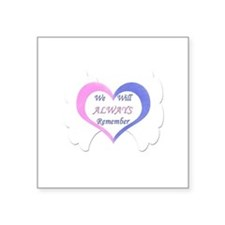 "Funny Twin baby Square Sticker 3"" x 3"""