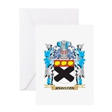 Johnston Coat of Arms - Family Cres Greeting Cards