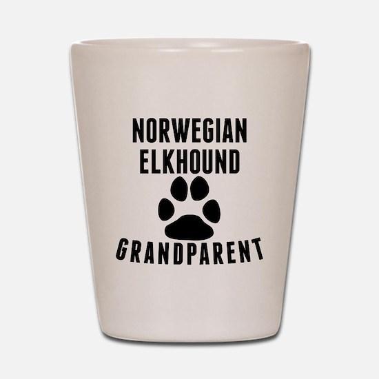 Norwegian Elkhound Grandparent Shot Glass