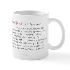 Cued Speech Definition Mug