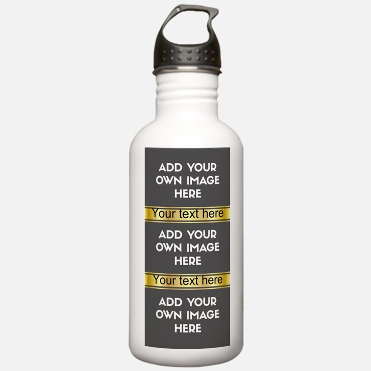 Add Your Own Image\Text Collage Water Bottle