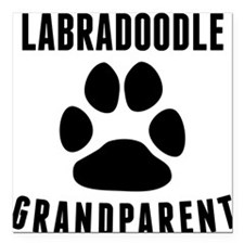 "Labradoodle Grandparent Square Car Magnet 3"" x 3"""