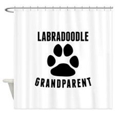 Labradoodle Grandparent Shower Curtain