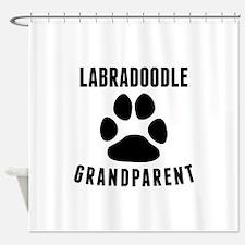 Labradoodle Grandparent Shower Curtain