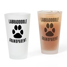 Labradoodle Grandparent Drinking Glass
