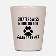 Greater Swiss Mountain Dog Grandparent Shot Glass