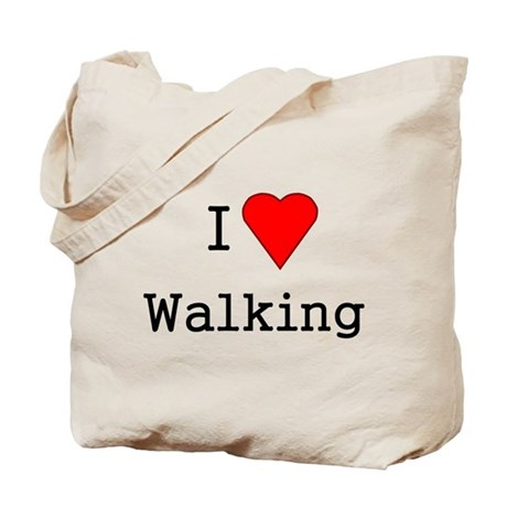 heart walking Tote Bag