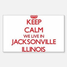 Keep calm we live in Jacksonville Illinois Decal