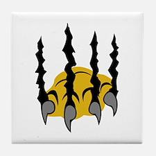 TIGER CLAWS Tile Coaster