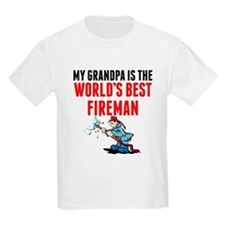 My Grandpa Is The Worlds Best Fireman T-Shirt