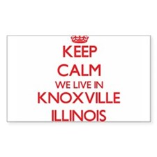 Keep calm we live in Knoxville Illinois Decal