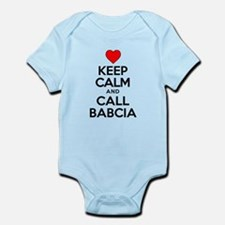 Keep Calm Call Babcia Body Suit