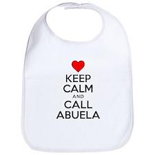 Keep Calm Call Abuela Bib