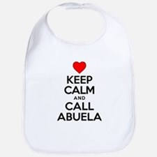 Keep Calm Call Abuela Bib